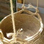 Befestigung des Schaukelkorbes mit Sisalseil