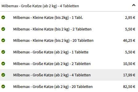 Screenshot Kosten Wurmkur Milbemax