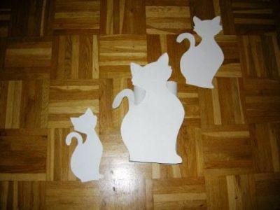 Schablonen für Katzenangel-Wandhalterung
