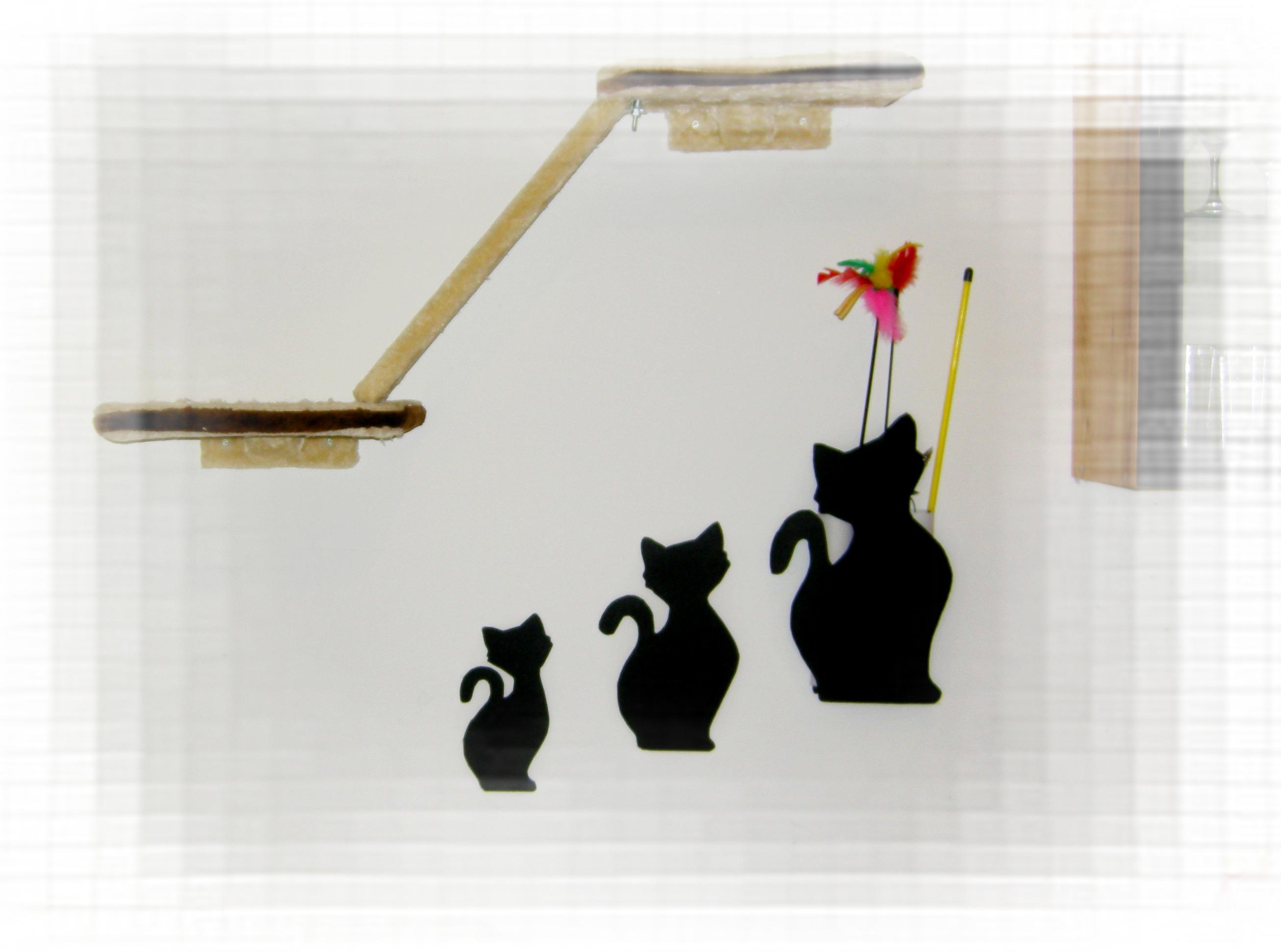 dekorative Wandhalterung für Katzenangeln