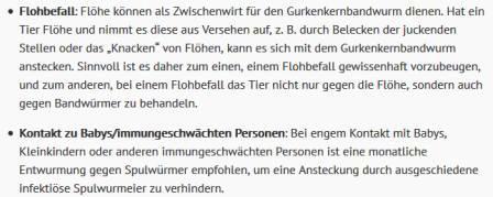 Screenshot ESCCAP Deutschland Katzen wie oft entwurmen 2