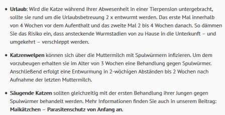 Screenshot ESCCAP Deutschland Katzen wie oft entwurmen 3