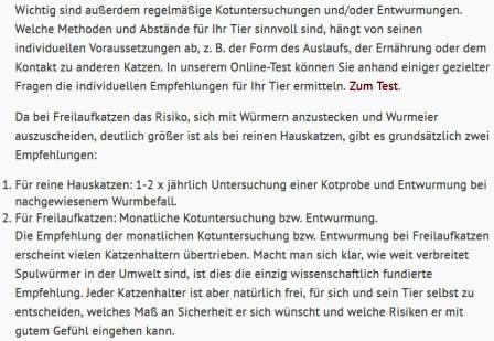 Screenshot ESCCAP Deutschland Würmer 1