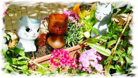 Wasserspender für Blumen im Katzendesign