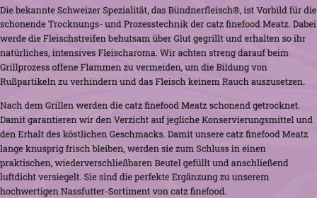 catz finefood Trockenfleisch