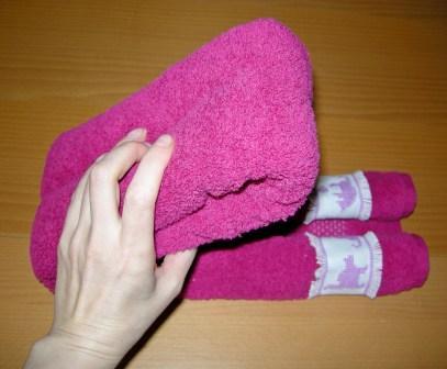 Handtuch dritteln
