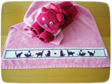 Handtuch-Katze