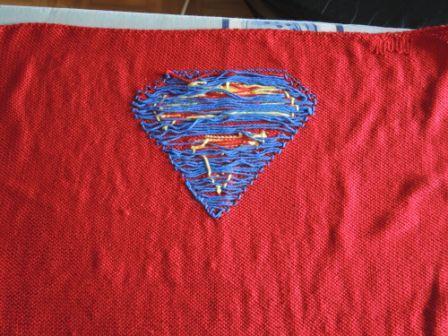 Rückseite der Superdecke mit Spannfäden